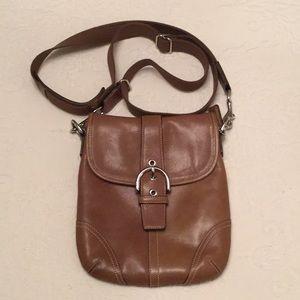 Tan Leather Coach Crossbody Bag